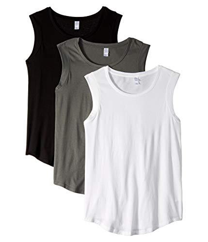 Alternative Women's The Luxe Crew 3-Pack Bundle Asphalt/White/Black - Tee Black Cap