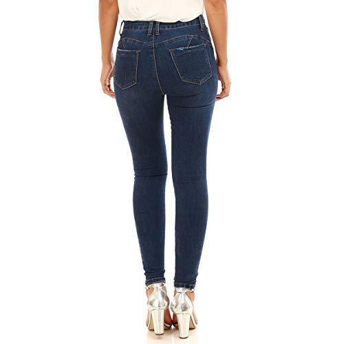 Bleu Jeans up lgrement La Effet Skinny dlav Effet us Modeuse Push vnRR6W5F1