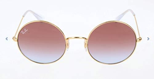 Ray-Ban RB3592 Ja-Jo Round Sunglasses, Gold/Violet Gradient, 55 ()