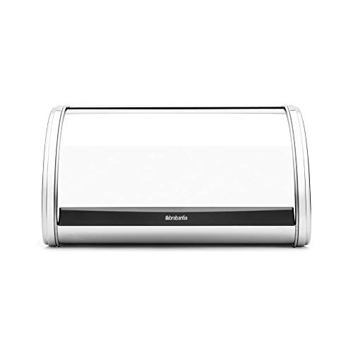 - Brabantia 339585 Roll-Top Stainless-Steel Bread Box