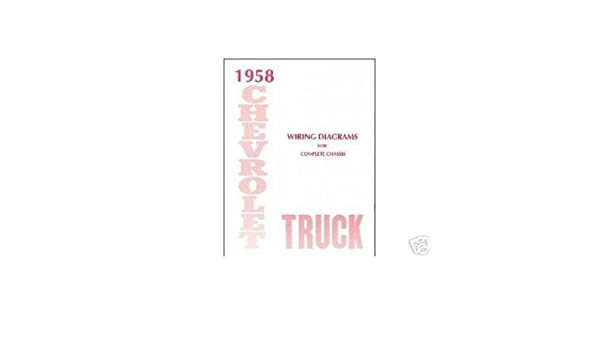 1958 chevy wiring diagram amazon com 1958 chevrolet truck electrical wiring diagrams 1958 chevrolet wiring diagram 1958 chevrolet truck electrical wiring