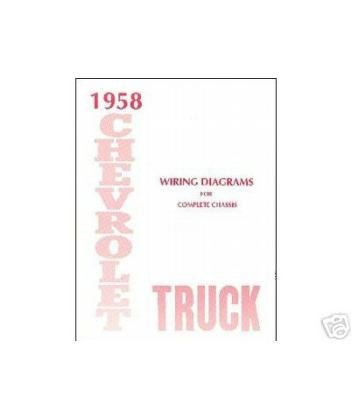 amazon com 1958 chevrolet truck electrical wiring diagrams rh amazon com Chevy Truck Wiring Harness Electrical Wiring Diagrams For Dummies