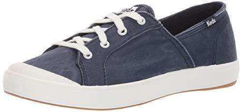 Keds Women's Sandy Washed Twill Sneaker, Navy, 8 M US