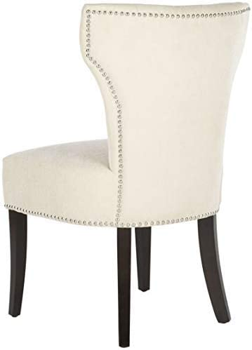 Safavieh Mercer Collection Jamie Cream Polyester Dining Chair, Set of 2