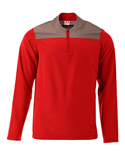 A4 Element Quarter Zip Jacket, Scarlet/Graphite, Small