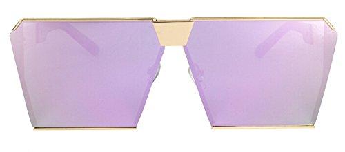 sol claro sobredimensionado hombre de de purple TL Sunglasses mujer frío espejo mirror lentes azul gafas Gafas nwxaRUag