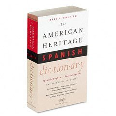 Houghton Mifflin American Heritage Office Spanish Dictionary, Paperback, 640 Pages -