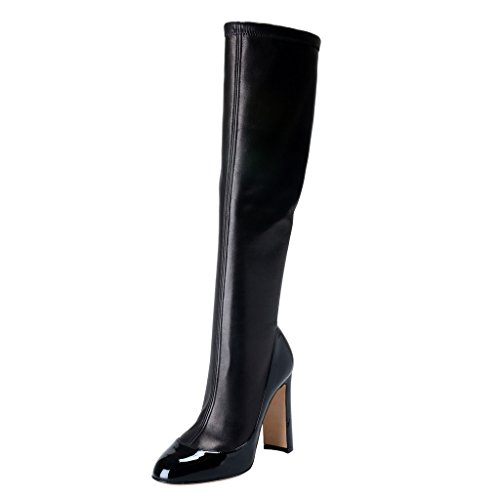 - Dolce & Gabbana Women's Black Leather High Heel Boots Shoes US 6 IT 36;