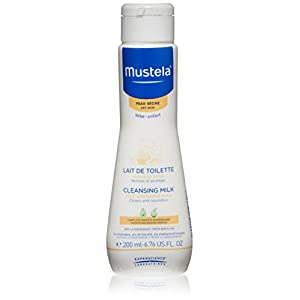 Mustela Cleansing Milk, Moisturizing Baby Cleanser for Dry Skin with Natural Avocado Perseose and Nourishing Oils, 6.76 Fl. Oz.