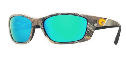 Costa Del Mar Fisch Sunglasses, Realtree Xtra Camo, Green Mirror 580Glass - Del Costa Mar Camo