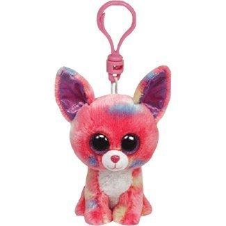 Amazon.com: TY Beanie Boo Clip para llaves rosa Chihuahua ...