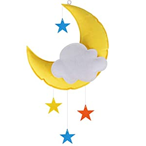 Baby Mobile for Crib Moon Star Cloud Baby Crib Mobile Room Decor