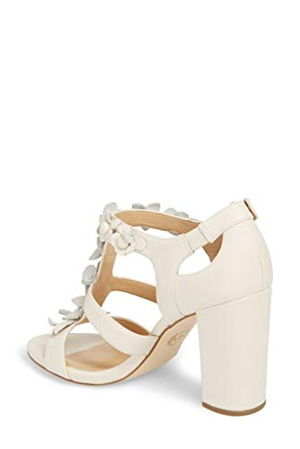 Sandals Kors Michael T-strap - KORS by Michael Kors Womens Tricia T Strap Leather Open Toe, Ecru, Size 7.0