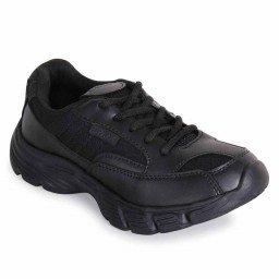 BATA Sparx Black Laces School Shoes (2