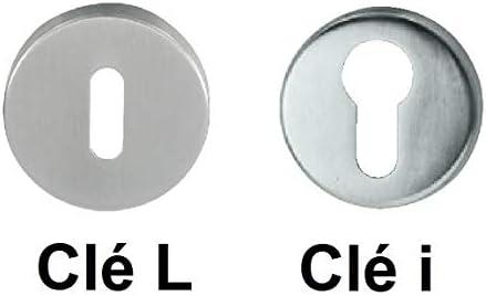 Poign/ée de porte inox bross/é mod/èle CUBA Cl/é I