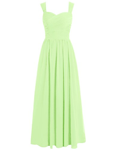 Gowns Dresses Dress Sage Chiffon Bridesmaid Cdress Long Formal Sweetheart Evening Straps Prom gOUan4F