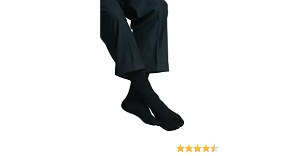 Amazon.com: MAXAR Mens Trouser Support Socks (20-22 mmHg) Black, Small, 2 Count: Health & Personal Care