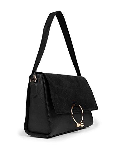 ring Marcez Black shoulder Woman flap Woman bag shoulder flap ring Marcez Black Cqw8gg