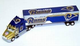 Los Angeles Rams Fleer Collectibles 2002 Tractor Trailer - Licensed NFL Football Merchandise