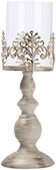QIQIDEDIAN キャンドルホルダーの装飾デコレーションホームデコレーションレトロキャンドルライトディナーの小道具ロマンチックなランプ (Color : Medium)