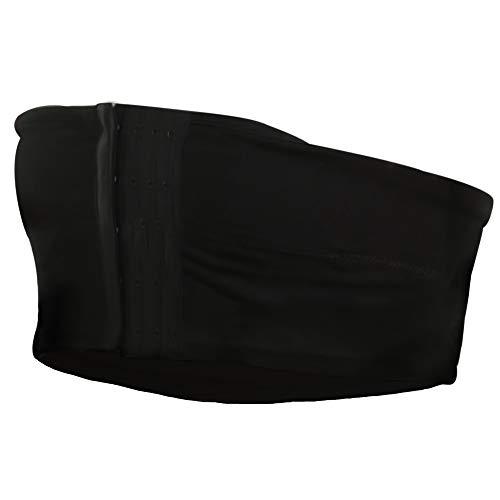 Abergele Hands Free Pumping Band à Strapless Breast Pump Bra à Nursing and Expression Bustier à 100% Cotton with Three Position Hook and Eye Closure à Black à Medium
