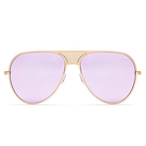 eb61984ddc107 Quay Australia ICONIC Women s Sunglasses Kylie Oversized Aviator - Gold  Purple - Buy Online in Oman.