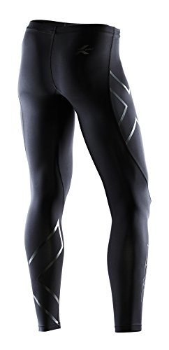 2XU Men's Recovery Compression Tights, Black/Black, Small Tall by 2XU (Image #6)