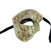 Laser Cut Venetian Halloween Masquerade Mask Costume Extravagant and Elegant Finely Detailed Phamtom Inspired - Silver Lining - Elegant Laser Cut Mask