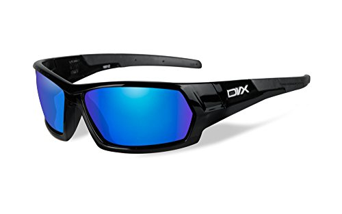 DVX by Wiley X - NEXT- SUN & SAFETY GLASSES- BLUE MIRROR LENSES/ GLOSS BLACK - Dvx Sunglasses