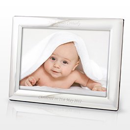 personalized silver landscape photo frame 5x7 free engraving perfect for weddings birthdays