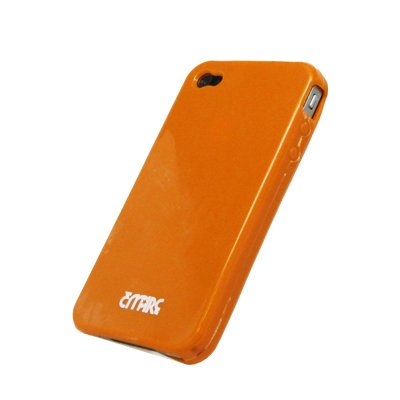Apple iPhone 4 / iPhone 4G Empire New-skin Case Poly Protector, Orange (AT&T)