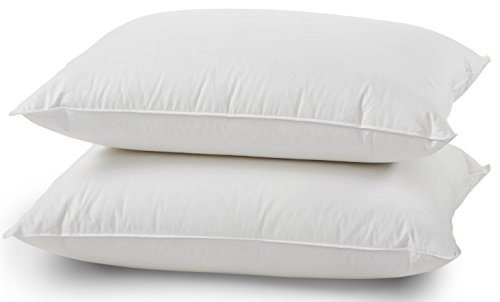 Luxuredown Feather and Down Pillows, Standard Size, Set of 2