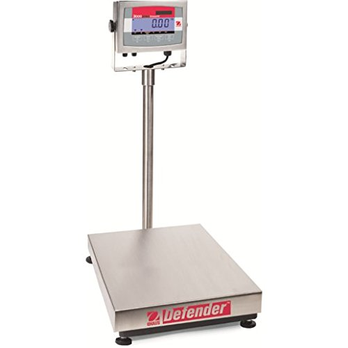 Bench Scale Digital Washdown - Ohaus D32XW15VR Defender 3000 Xtreme Legal for Trade Washdown Bench Scale 30 X 0 005 lb