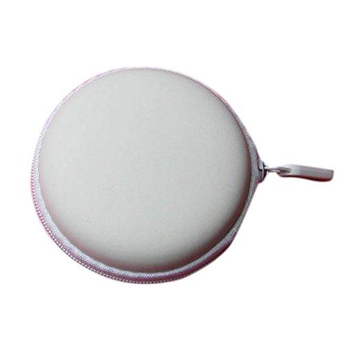 LHWY Auricular Auriculares SD TF Tarjetas Bolso de La Caja, Colorida Mini pPortátil Ronda Almacenamiento Disco Duro Blanco