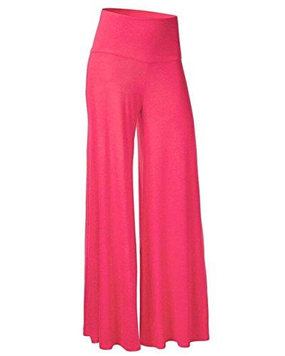Autunno Aladin Pantaloni Palazzo Sciolto Colori Eleganti Baggy Fashion Libero Grazioso Hippie Tempo Solidi High Moda Primaverile Donna Waist Rose RwqTxzdnw5