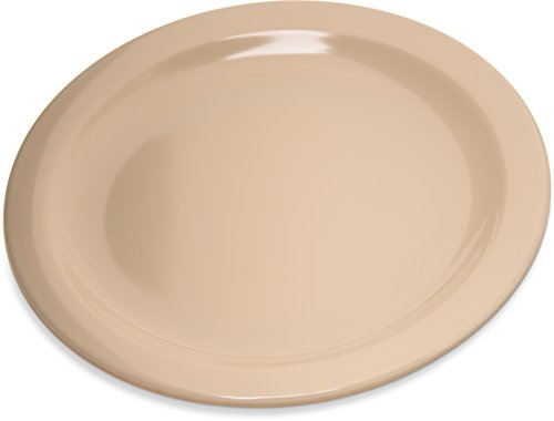 Carlisle 4350325 Dallas Ware Melamine Salad Plate, 7.19'' Diameter x 0.74'' Height, Tan (Case of 48) by Carlisle