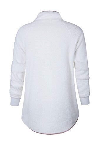 Pullover Femme Hiver Sweat Grand Oblique Blanc couleur Femmes Taille Décontracté Café Pull pour Zhrui 5tXqwC5