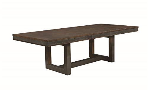 Atwater Dining Table with Leaf Vintage Bourbon (With Leaves Wood Table Reclaimed Dining)