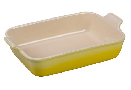Le Creuset Heritage Stoneware 10-1/2-by-7-Inch Rectangular Dish, Soleil
