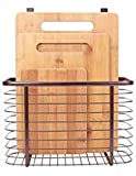 3-Piece Bamboo Cutting Board Set PLUS Hanging Basket - Hang Over...