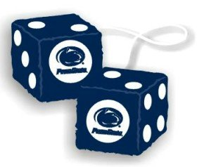 NCAA Penn State Nittany Lions Football Team Fuzzy Dice, Blue