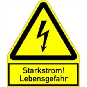 Lebensgefahr Alu gepr/ägt 24,4 x 20cm SL Schild Warnschild Starkstrom