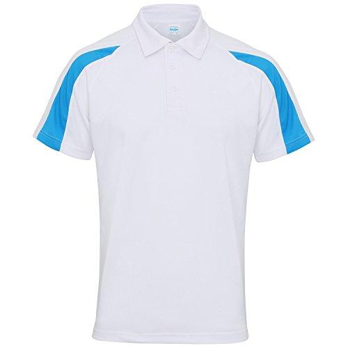 BlueArctic a a Awdis CoolPolo Uomo SummerSport traspirante con Just contrasto Gentleman Royal White maniche corte righe pzGjSLMVqU