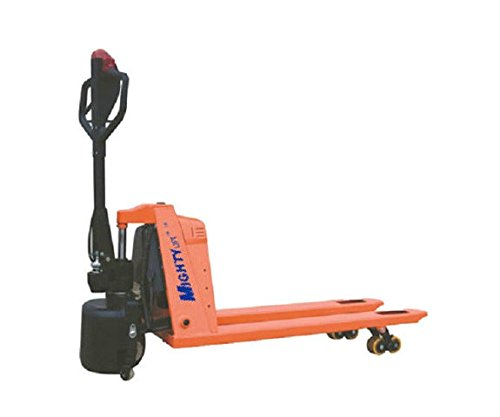 Powered Battery Operated Pallet Jack Manual Lift Power Drive 28-1/2''x45'' L forks 3300#Cap