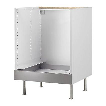IKEA FAKTUM - Mueble bajo para horno, Rubrik acero inoxidable - 60 cm