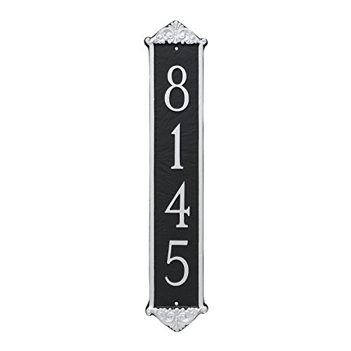 Montague Metal PCS-0059S1-W-BRG Scroll Column Address Sign Plaque, 20