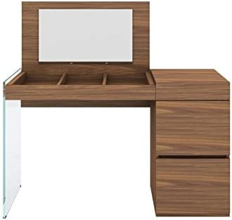 Casabianca Furniture IL VETRO Walnut Veneer Vanity by Casabianca Home