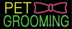 Pet Grooming Outdoor Neon Sign 13 x 32