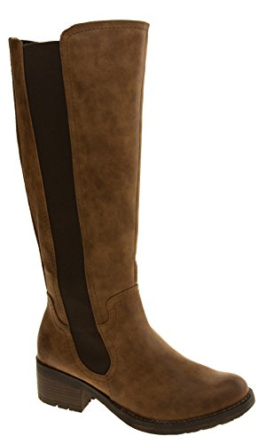 Leather Faux Tozzi Marco Footwear Boots Studio Cognac Womens 7aqRqzv