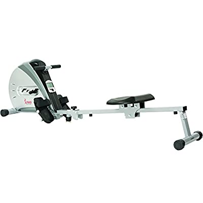 Sunny Health & Fitness SF-RW5606 Elastic Cord Rowing Machine Rower w/ LCD Monitor from Sunny Distributor Inc.
